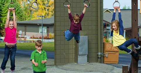 Children on Monkey Bars
